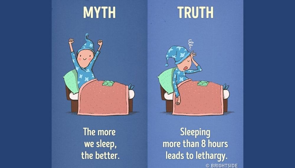 การตื่นนอน การนอนหลับ กิจวัตรประจำวัน ความเชื่อผิดๆ