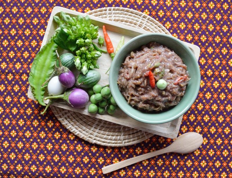 น้ำพริกกะปิ สมุนไพรไทย อาหารเพื่อสุขภาพ