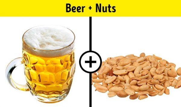 เบียร์ + ถั่ว