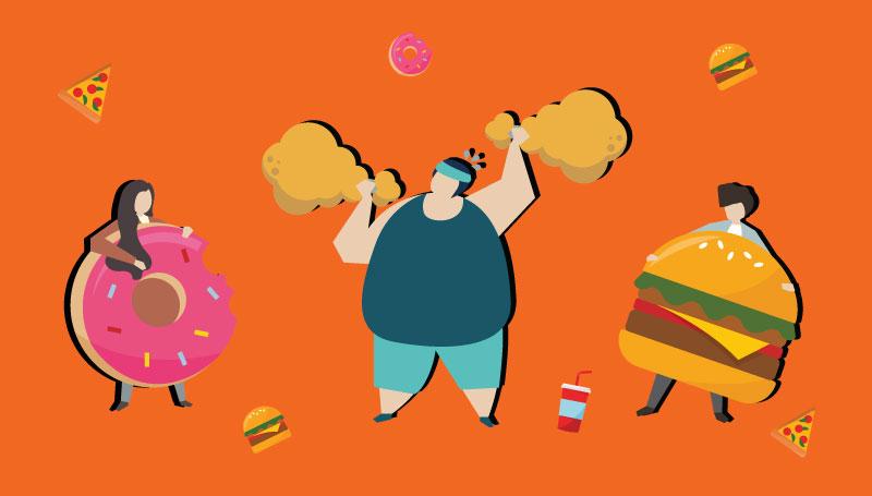 วิธีแก้เครียด อ้วนลงพุง เครียดแล้วกิน