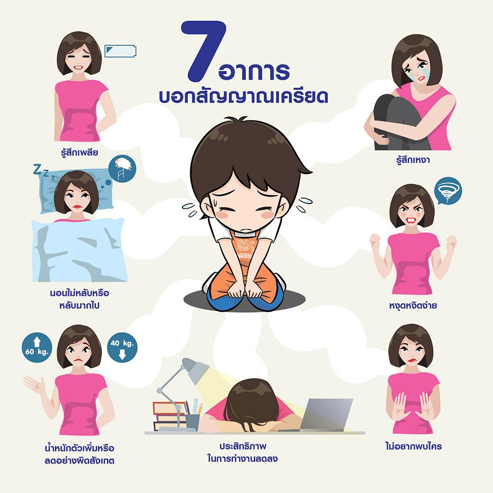 7 อาการ ที่บ่งบอกว่าคุณกำลังเครียด
