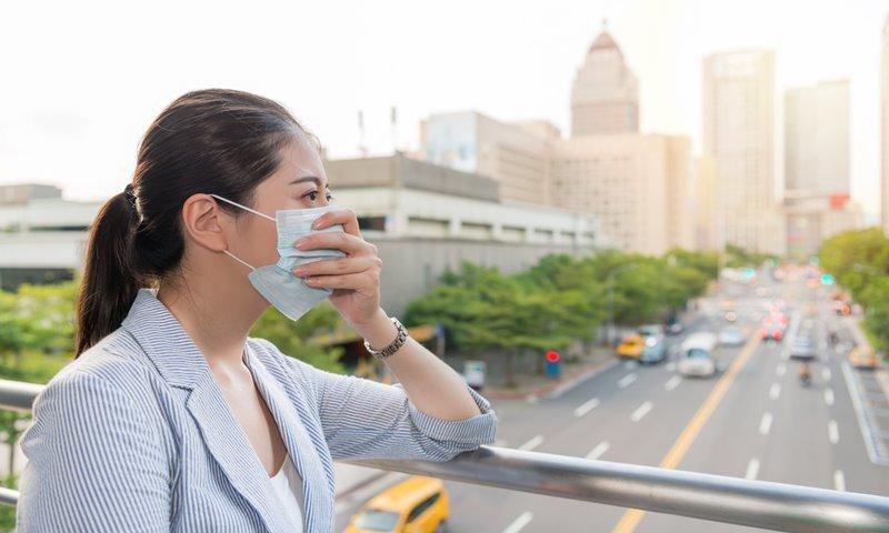 ฝุ่น มลพิษ สภาพอากาศ หน้ากากอนามัย